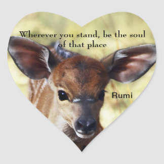 Rumi Wherever you stand Heart Sticker