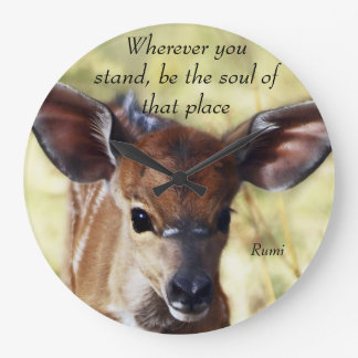 Rumi Wherever you stand Large Clock