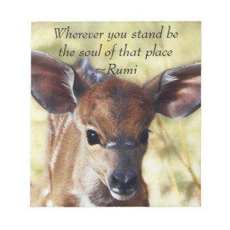 Rumi Wherever you stand Notepad