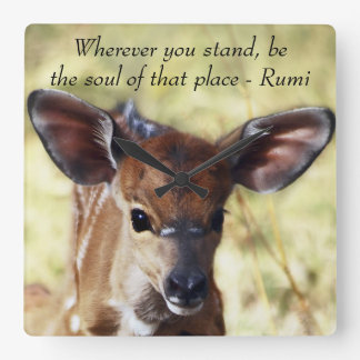 Rumi Wherever you stand Square Wall Clock