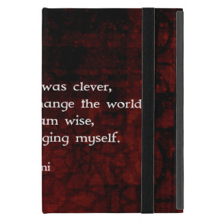 Rumi Wisdom Quote About Change & Cleverness iPad Mini Cover