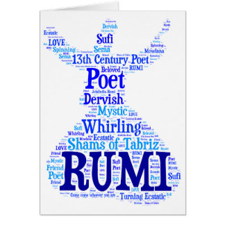 Rumi Word Art Card