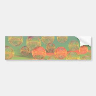 Rumias del otoño - oro y gloria color de rosa pegatina de parachoque