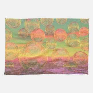 Rumias del otoño - oro y gloria color de rosa toallas