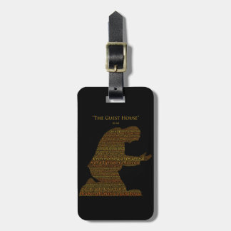 "Rumi's ""The Guest House"" Poem Luggage Tag"