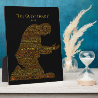"Rumi's ""The Guest House"" Poem Plaque"