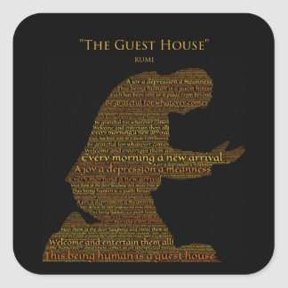 """Rumi's """"The Guest House"""" Poem Sticker"""