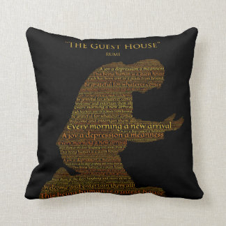 """Rumi's """"The Guest House"""" Poem Throw Pillow"""