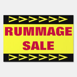 Rummage Sale Sign