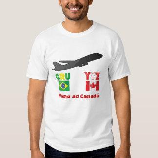 Rumo ao Canadá Remera