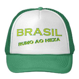 Rumo ao del Brasil hexa Gorros Bordados