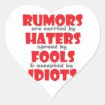 Rumores Calcomanía Corazón Personalizadas
