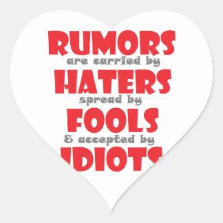 Rumores Pegatina En Forma De Corazón