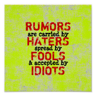 RUMORS - (Canvas Option) 12X12 Poster