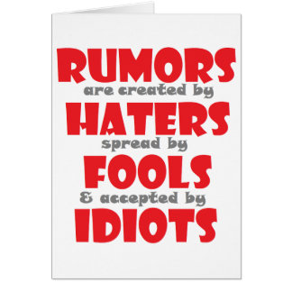 rumors card