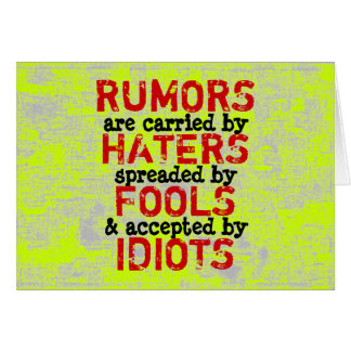 RUMORS ~ Card Truism / Philosophy