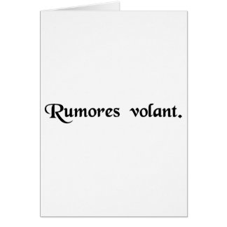 Rumors fly. card