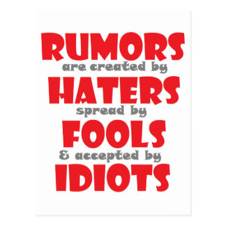 Rumors Postcard