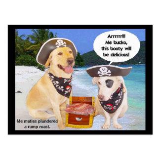 Rump Roast Pirate Booty Postcard