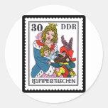 Rumpelstiltskin 30 DDR 1976 Classic Round Sticker