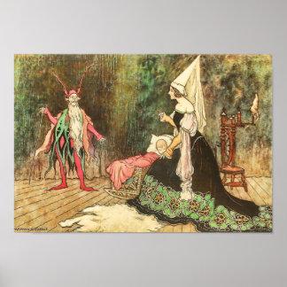 Rumpelstiltskin by Warwick Goble Poster