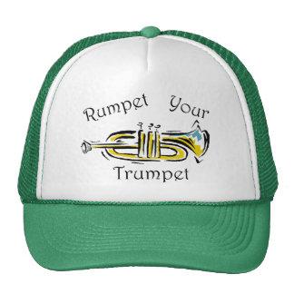 Rumpet su gorra de la trompeta