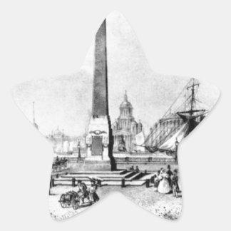 Rumyantsev Monument in St. Petersburg by Vasily... Star Sticker