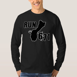 RUN671 Large Logo Outline T-Shirt