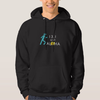 Run 13.1 With Aloha Men's Basic Hooded Sweatshirt