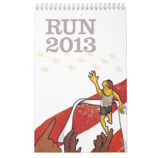 RUN 2013 - Calendar for Runners - Vertical