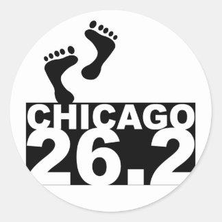 Run 26.2 classic round sticker