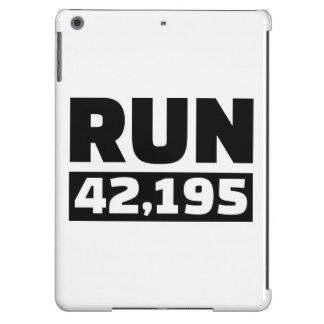 Run 42 kilometers marathon iPad air covers