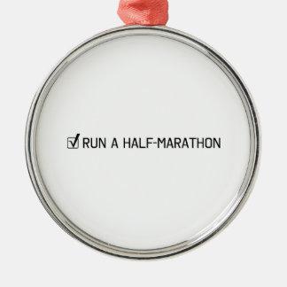 Run A Half Marathon Metal Ornament