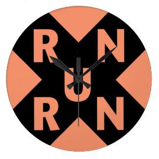 RUN × you run Large Clock