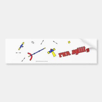 Run Agility Colored Couse Bumper Sticker