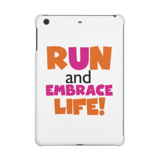 Run and Embrace Life Orange Pink iPad Mini Covers