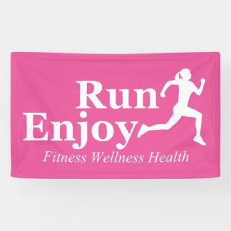 Run and enjoy banner