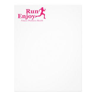 Run and enjoy letterhead