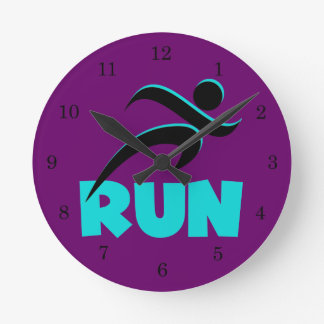 RUN Aqua Round Clock