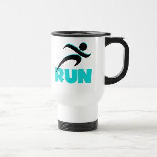 RUN Aqua Travel Mug