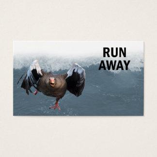 Run away business card