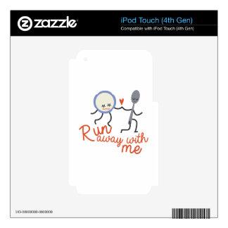 Run Away iPod Touch 4G Decals