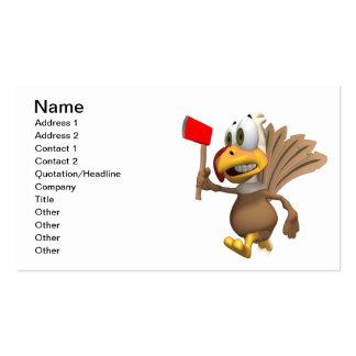 Run Away Turkey Double-Sided Standard Business Cards (Pack Of 100)