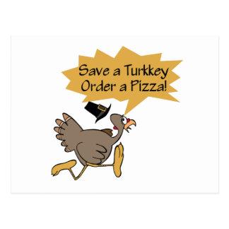 Run Away Turkey Thanksgiving shirt Postcard