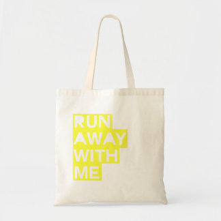 Run Away With Me tote in Highlighter Yellow