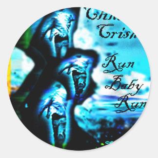 "Run Baby Run ""The Remixes"" by Clint Crisher Classic Round Sticker"