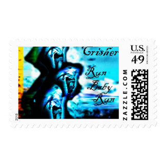 """Run Baby Run """"The Remixes"""" by Clint Crisher Postage Stamp"""