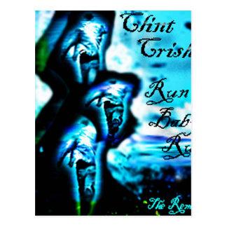 "Run Baby Run ""The Remixes"" by Clint Crisher Postcard"