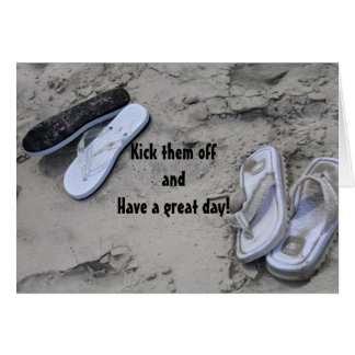 RUN BAREFOOT AND HAVE FUN ON YOUR BIRTHDAY CARD