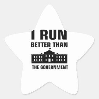Run better than the Government Star Sticker